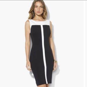 Lauren Ralph Lauren Two Tone Sheath Dress